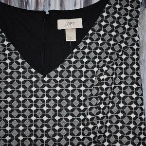 Ann Taylor Loft Dresses - Ann Taylor Loft Womens Skater Dress Black White 10